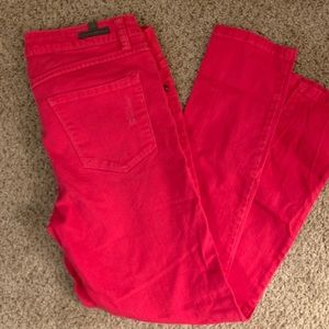 LC hot pink straight leg jeans